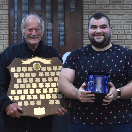 (left) Rob Mullane with Matthew Pedulla 2019/20 Frank Macgrotty Award Winner 2019/20